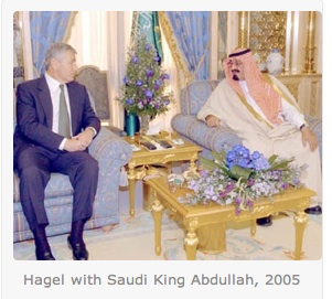 Chuck Hagel and Saudi King Abdullah