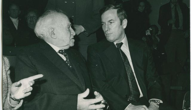 Shabtai Teveth (right) with David Ben-Gurion