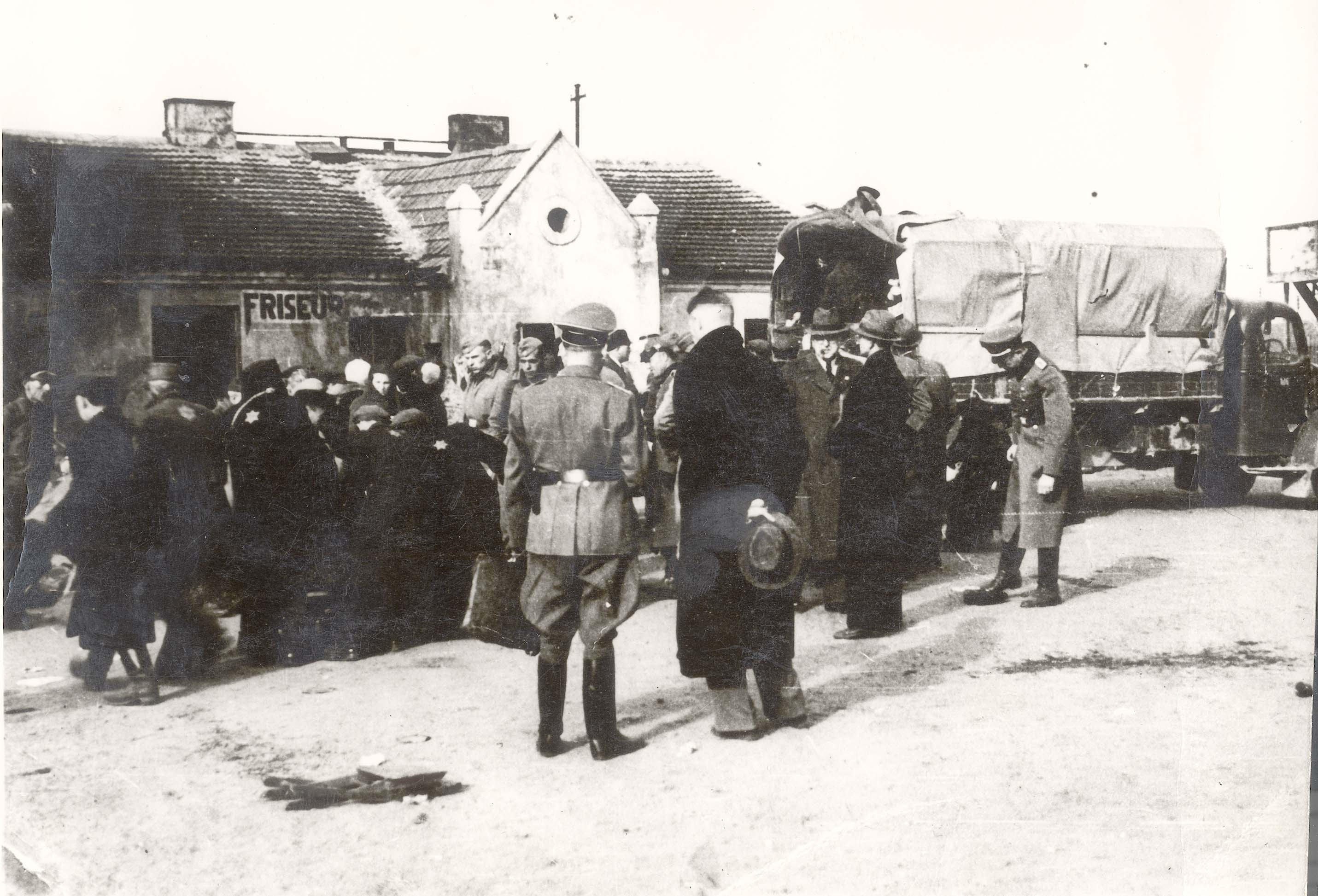 Deportation of Jews from Wloclawek, Poland to the Chelmno Death Camp, April 1942.
