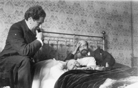 Sokolow, Ussishkin, and Weizmann in Paris, 1919