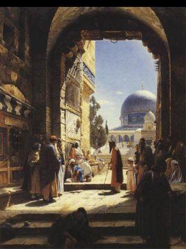 Bauernfeind, entrance to Temple Mount