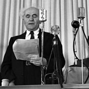David Ben-Gurion proclaims Israel's independence
