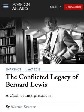 Bernard Lewis's Legacy
